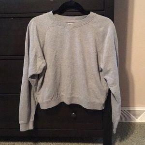 Express gray sweatshirt